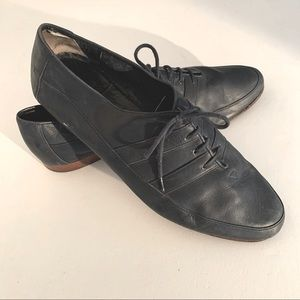 Vintage Made in Italy mens leather shoes size 44